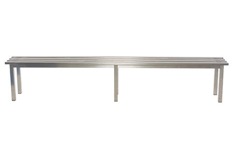 Stainless Steel Mezzo Changing Room Bench Benchura