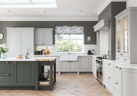 Www Kitchen Collection by Jefferson Classic Light Grey Dust Grey Kitchen Stori