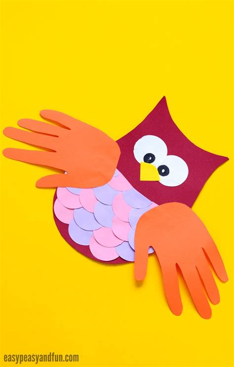 Make Construction Paper Crafts For - construction paper owl craft easy peasy and