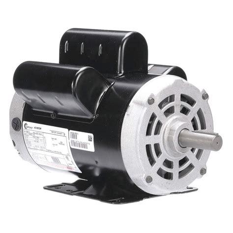 century 5 hp air compressor motor capacitor start run 3450 nameplate rpm 230 voltage frame 56hz