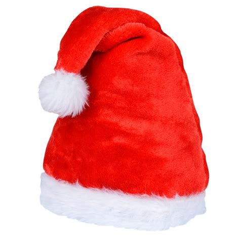traditional plush red christmas festive xmas novelty santa hat