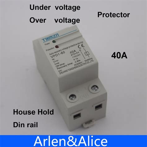 Protector Auto Recovery Mcb Din Rail Voltage 230v 40a aliexpress buy 40a 230v din rail automatic recovery reconnect voltage and