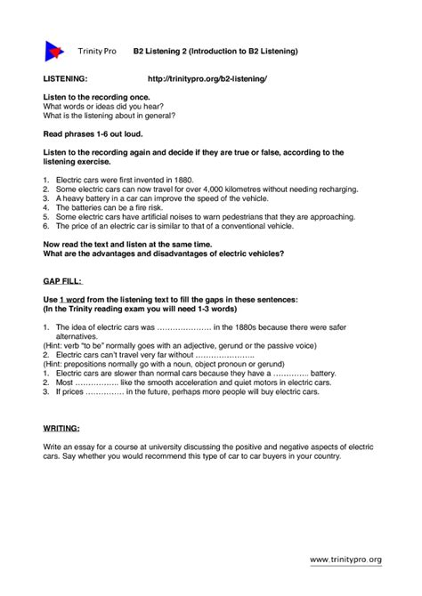 worksheet on the open boat answer key electric cars listening gap fill and writing task ise 2 b2