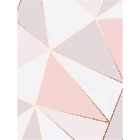 Mickey Mouse Bedrooms apex geometric wallpaper rose gold fine decor fd41993