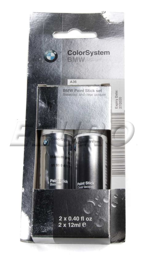 genuine bmw mini touch up paint code a36 titanium gray ii 51910419769 free shipping available