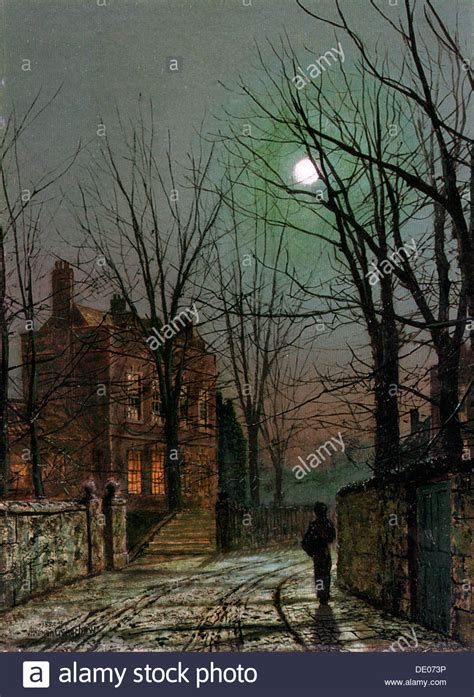 By The Light Of The Moon by By The Light Of The Moon 1882 Artist Atkinson Grimshaw Stock Photo Royalty Free Image