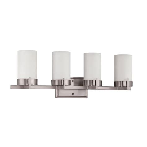 Bright Bathroom Lights Luminance Ledbury 3 Light Bright Satin Nickel Vanity Light F3153 80 The Home Depot