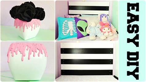 how to make room decorations diy tumblr room decor pastel goth inspired youtube