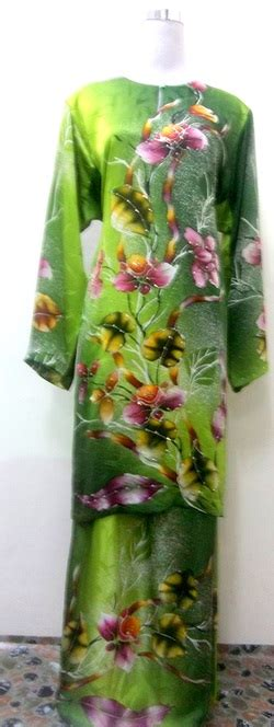 Batu Lukis Cactus 1 baju sutera naimah batik lukis