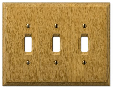oak light switch covers carson light finish oak wood 3 toggle wall plate