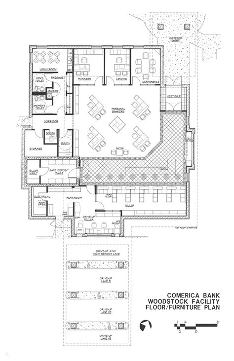 floor plan of a bank woodstock floor plan bruce f roth architect
