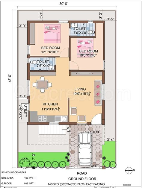 house plan com 2 bhk house plan east facing house home plans ideas picture