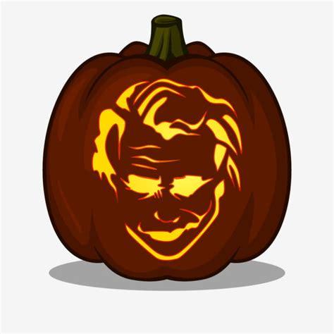 iconic joker smile design  pumpkin carving ideas