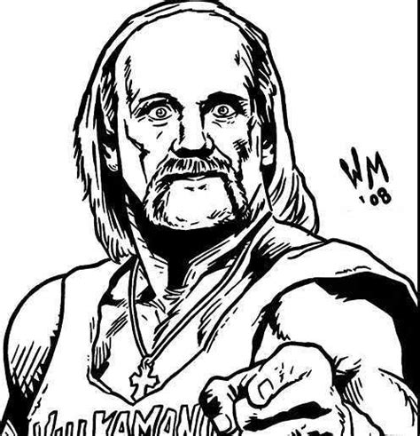wwe coloring pages hulk hogan 37 best coloring pages wwe images on pinterest