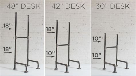 iron pipe desk plans diy plumbers pipe standing desk
