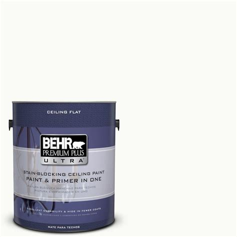 behr premium plus ultra 1 gal ppu18 6 ceiling tinted to ultra white interior paint 555801