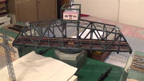 swing bridge model motorized walthers swing bridge youtube