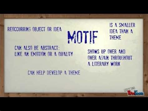 theme in literature rap 1 38 video explaining theme vs motif ed read read