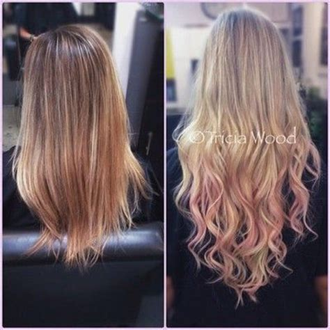 frosted hair before and after before and after blonde long and pink frosted