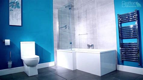 L Shaped Shower Bath With Hinged Screen l shaped square shower bath youtube