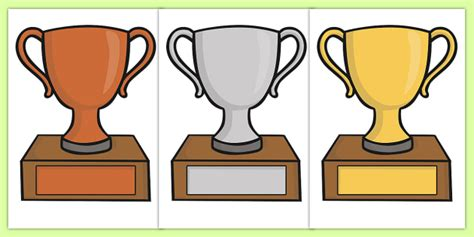 trophy card template editable classroom award trophies reward classroom trophy