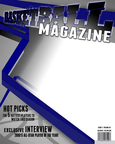 magazine cover page template free magazine covers