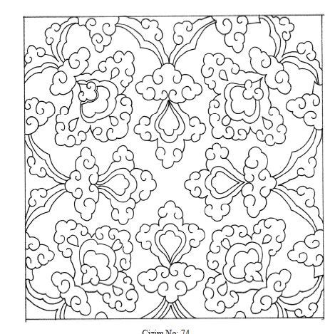 islamic tile coloring pages ottoman paterns motifs patterns and motifs 2 pinterest