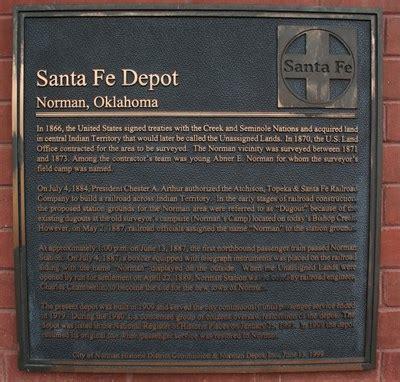 santa fe depot norman oklahoma oklahoma historical
