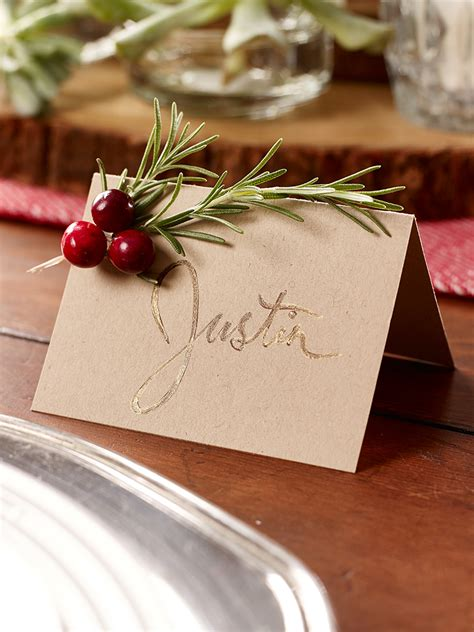 printable christmas place card holders rosemary seating cards this place card craft is easy to