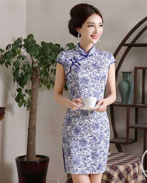 Baju Qipao Modern baju dress cheongsam modern cantik bahan katun 36a55