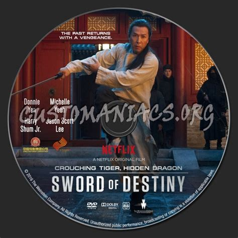 Dvd With Sword 2016 crouching tiger the sword of destiny dvd label dvd covers labels by
