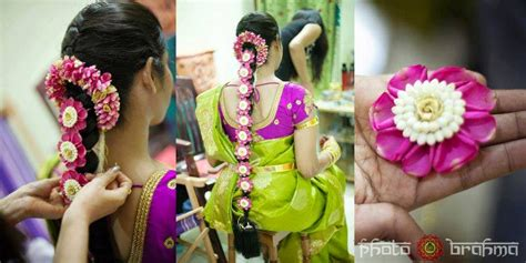 Pelli Poola Jada Southindian Bridal Hairstyles With Flowers Christian Bridal Hairstyle For Saree