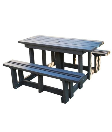 4 seater jumbo picnic table no back mctimber structres