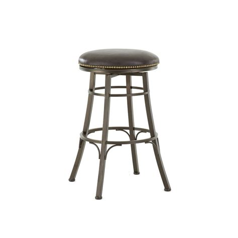 backless metal bar stools bali backless metal bar stool with swivel seat cedar