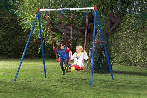 altalena bimbi da giardino altalena basic 2 da giardino per bambini in metallo doppia