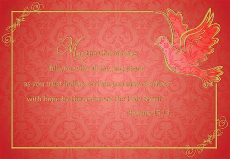 foil lined dove  red religious christmas card  designer