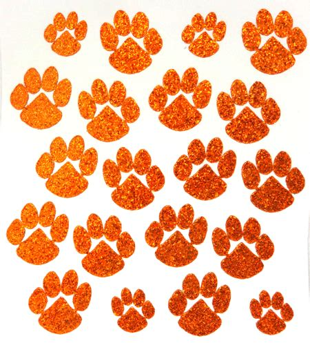 printable glitter stickers large cheer glitter paw sticker cheer and dance teams