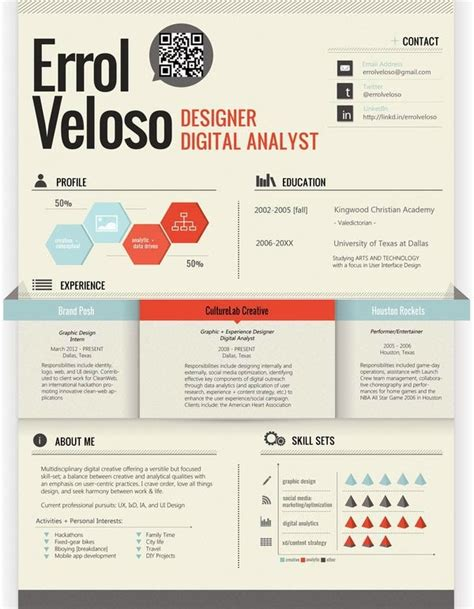Resume Graphic Design Infographic 30 Infographic Resumes That Stand Out Jayce O Yesta