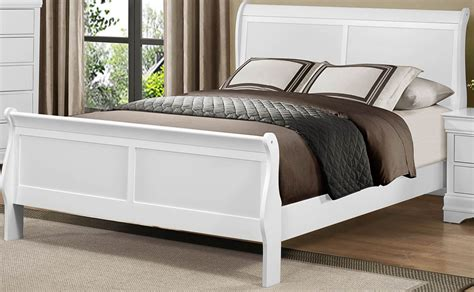 white sleigh bed mayville burnished white full sleigh bed from homelegance