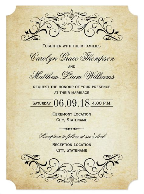 28 wedding invitation wording templates free sle