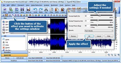 tutorial wave editor tutorial superez wave editor add audio effects