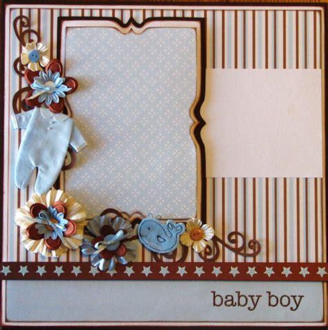 scrapbook layout ideas baby boy baby boy 12x12 layout pre made scrapbook page