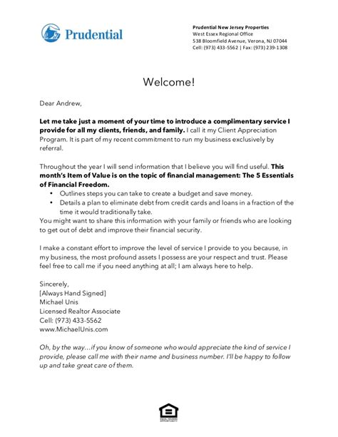 Introduction Letter New Ceo realtor introduction letter to client letter idea 2018