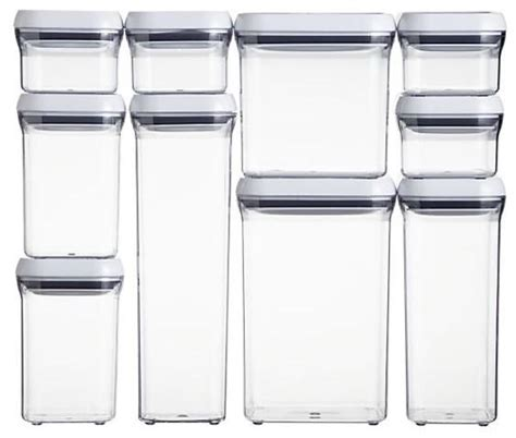 Pantry Storage Containers Sets by Oxo Grips Pop Square 0 3 Quart Storage