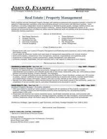 Apartment Property Manager Sle Resume by Property Manager Resume Sle Http Resumesdesign Property Manager Resume Sle