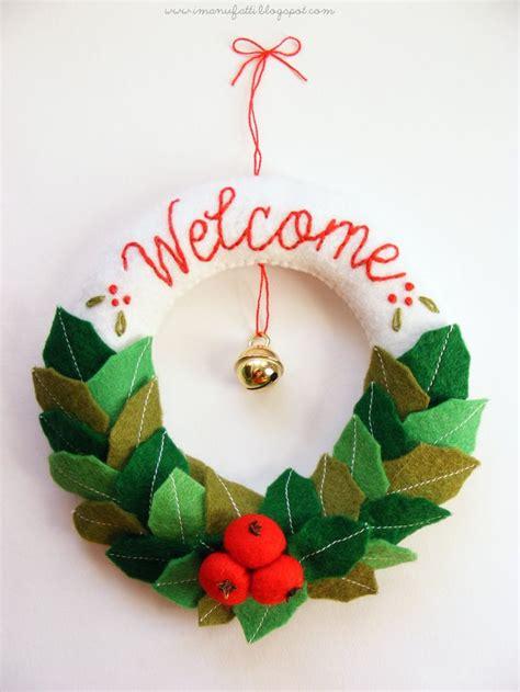 patterns christmas felt diy felt christmas wreath tutorial and free templates