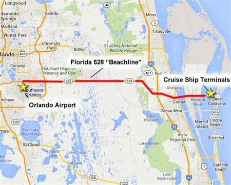 cape canaveral cruise canaveral overview parking terminals and maps