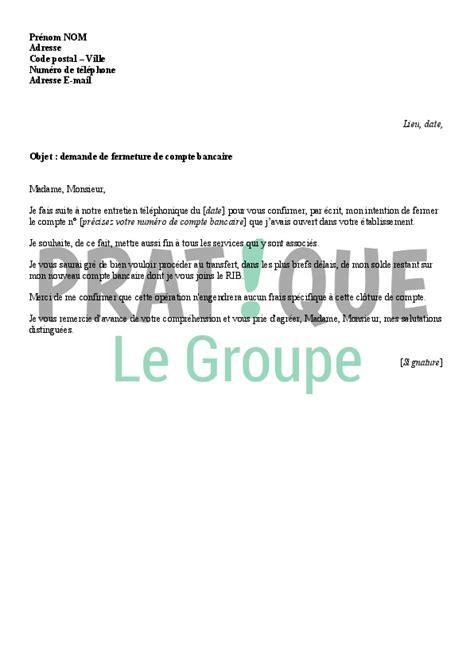 Lettre De Résiliation De Virement Permanent modele lettre demande de transfert de compte bancaire contrat de travail 2018