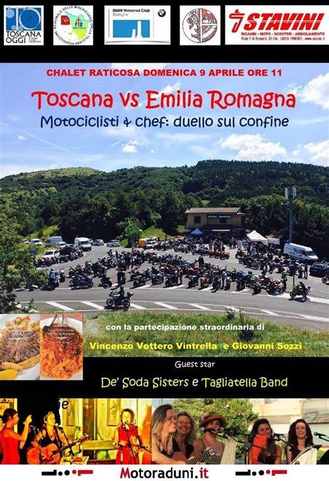 orari popolare emilia romagna toscana vs emilia romagna motociclisti e chef duello sul
