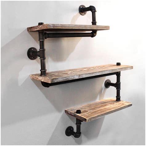 industrial pipe wall shelf